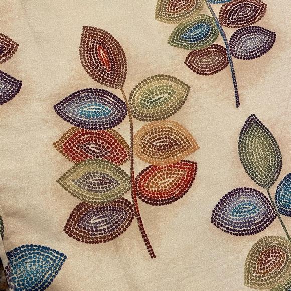 Croscill Bath Mosaic Leaves Fabric Shower Curtain Poshmark